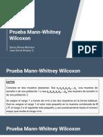 Prueba Mann-Whitney Wilcoxon D Rivera J D Alvarez