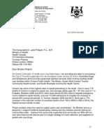 Toronto Safe Injection Sites Letter
