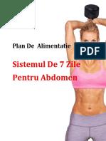 Plan de Alimentatie Sistemul de 7 Zile Pentru Abdomen