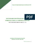 Estandares Espanoles Certificacion forestal
