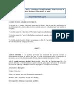 Arrêté Du Directeur Des Affaires Economiques Relatif à La Farine de Poisson Déstinée à l'Alimentation Du Betail
