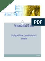 El Concepto de Vulnerabilidad Urbana. Julio Alguacil