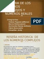 Historia de Los Números Complejos y Numeros Reales
