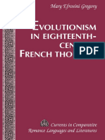 Evolutionism in Eighteenth Century French Thought