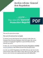 EU Data Protection Reform General Data Protection Regulation - Iubenda Blog