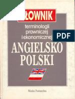 Slownik Prawniczy Ang-pol J. Pieńkos