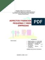 ASPECTOS FINANCIEROS DE PEQUEÑAS Y MEDIANAS EMPRESAS.docx