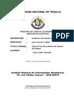 Informe Final Auditoria de Riesgos