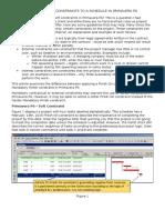 Applying Hard Constraints to a Schedule in Primavera p6