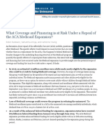 KFF What at Risk Repeal ACA Medicaid Expansion