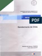 Informe de Contraloría Sobre Gendarmería
