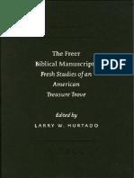 The Freer Biblical Manuscripts