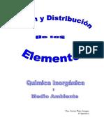 Trabajo Origen y Distribución de los Elementos