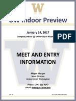 2017 UW Preview Meet Info