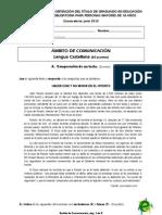 Prueba Lengua-Ingles Junio 2010 Soluciones