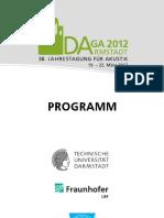 DAGA 12 Programm