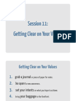11 Getting Clear on Your Values Workbook