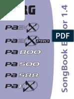 Korg SongBook Editor 1.4 User Guide