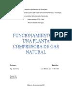 Funcionamiento de Planta Compresora
