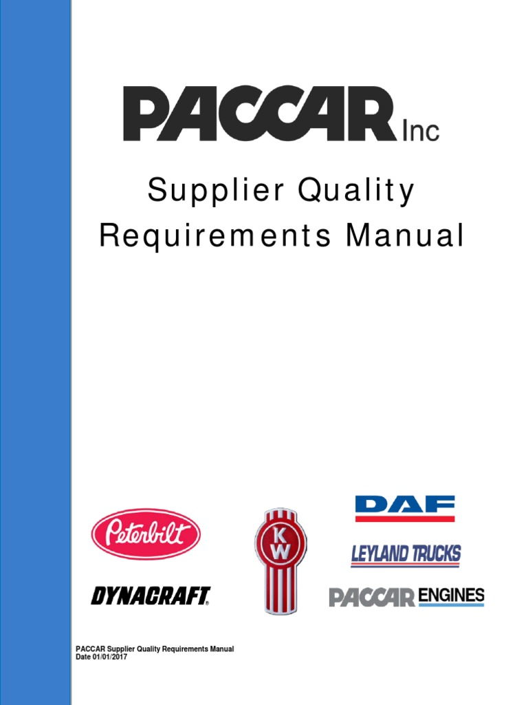 Supplier Quality Requirements Manual 010317 Final Iso 9000