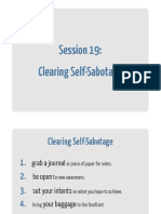 19 Clearing Self Sabotage Workbook