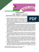 Pronunciamiento Lavajato Congresistas del Nuevo Perú
