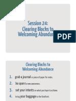 24 Clearing Blocks to Welcoming Abundance Workbook