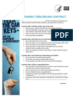 parent-teen driving contract
