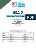 Caderno de prova - SSA2/UPE 2017, 1º dia