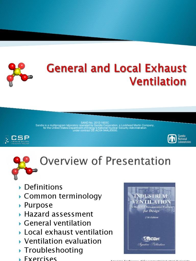 General and Local Exhaust Ventilation | Ventilation (Architecture) | Hvac