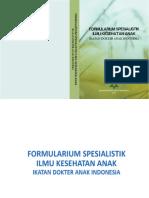 Formularium Spesialistik (Dosis Obat) 2013