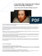 what shakespeare sounded like