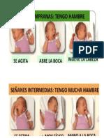 imagenes sobre signos de alarma de hambre en el RN