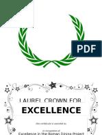 Laurel Crown Certificate