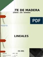 Reporte de Madera Enero 1ra Semana