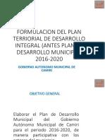 Taller Presentacion Proceso de Elaboracion de PTDI_camiri