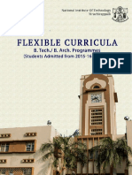 Flexible Curricula B.tech. B.arch. 2015 Onwards