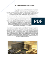 Arquitectura en La Antigua Grecia