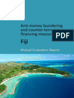 Fiji - Anti-money Laundering and Counter-terrorist Financing Measures - Mutual Evaluation Report - October 2016