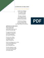 Poesia Oracion Al Señor de Los Milagros