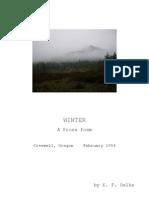 Winter  (A Prose Poem)
