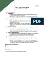 Exam 1 Study Guide Review