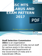 Ssc Mts 2017 Syllabus and Exam Pattern