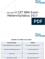 GGSIPU CET BBA Exam Pattern