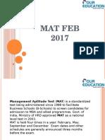 MAT Feb 2017 Syllabus and exam pattern