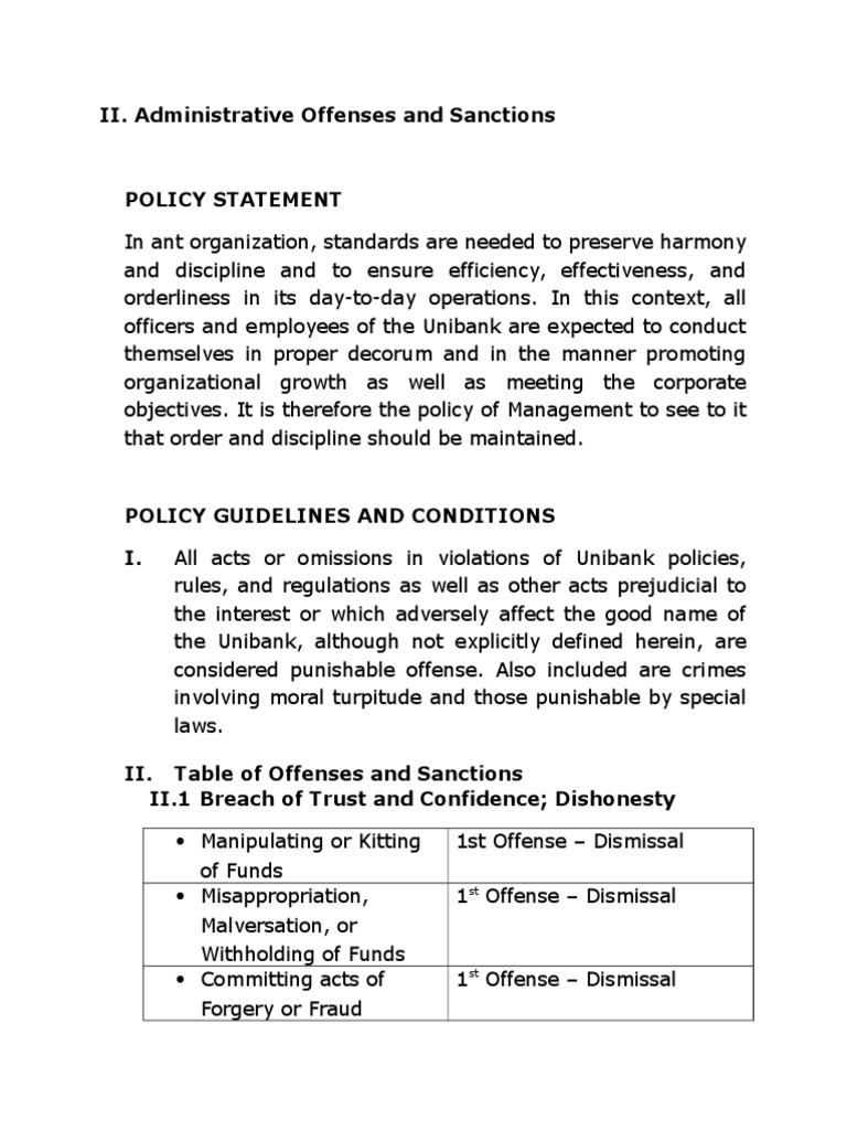 Administrative offense - what is it