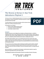 STAR TREK ADVENTURES Playtest Adventure 1 - The Rescue at Xerxes
