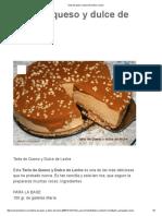 Tarta de Queso y Dulce de Leche _ Cocina