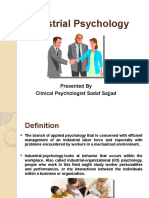 Industrial Psychology Ppt