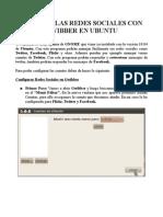 Manual para Utilizar Las Redes Sociales Con Gwibber en Ubuntu